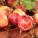 appels met hartje