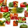 collage van diverse groente