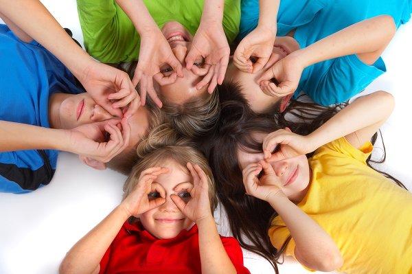 kinderen met bril