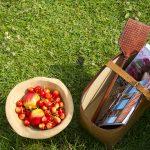 ook een picknickmand heb je snel gezond gevuld